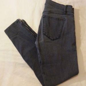 ANNE TAYLOR Loft Modern Skinny Zip Ankle Jeans